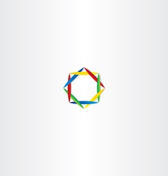 abstract business logo square circle colorful vector image vector image