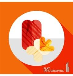 Geometric infographic in trendy flat style vector image vector image