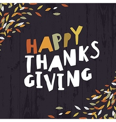 Happy Thanksgiving card design Paper Cut Letters vector image vector image