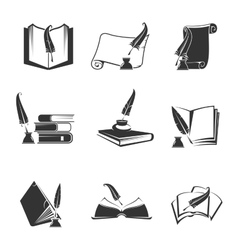 icons of science study knowledge vector image vector image