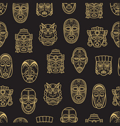 indian aztec and african historic tribal mask vector image vector image