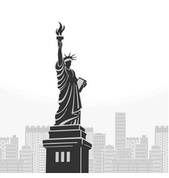 new york statue of liberty symbol vector image vector image