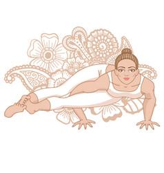 women silhouette eight-angle yoga pose vector image vector image