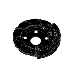 black brake disc vector image vector image