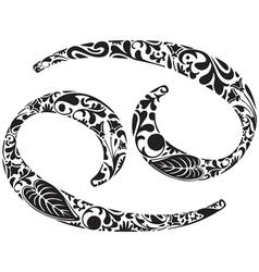 Cancer zodiac sign vector image vector image