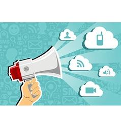Cloud computing marketing concept vector image vector image