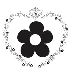 floral elegant frame icon vector image