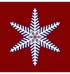 Snowflake Christmas pattern vector image vector image