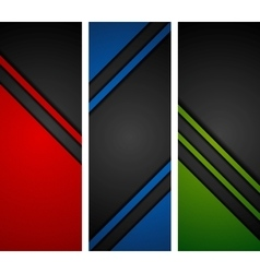 Abstract dark tech banners vector image