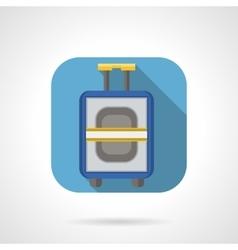 Flat color design luggage icon vector image vector image