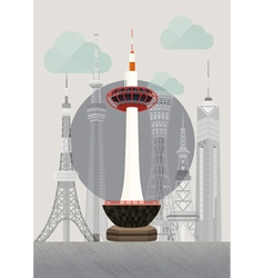 Japan kyoto tower vector