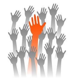 leader hand vector image vector image