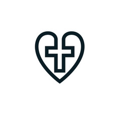love of god conceptual symbol combined with vector image