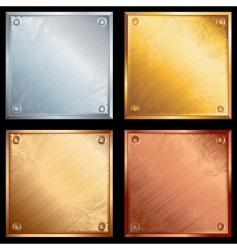 metal plates vector image vector image