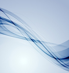 Modern blue bright lines abstract background vector image