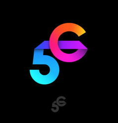 5 g logo fourth generation mobile networks origami vector