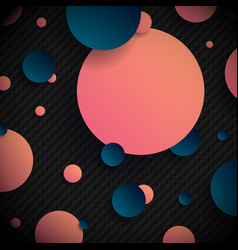 abstract 3d pink and blue gradient circles shapes vector image