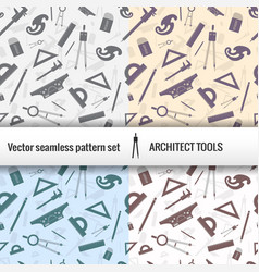 architectural seamless pattern set vector image