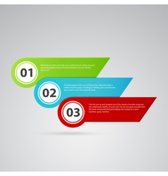 arrow color template with numbers vector image