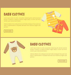 Baby clothes jumpers web vector