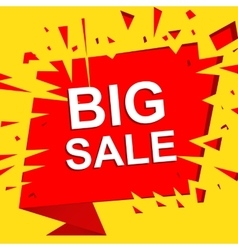 Big sale poster with BIG SALE text Advertising vector