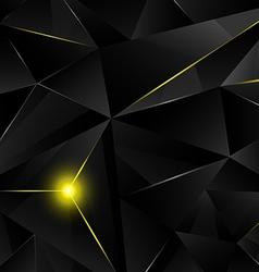 Black crystal - yellow vector image