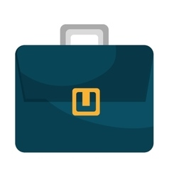 Blue business briefcase male accesorie icon vector image