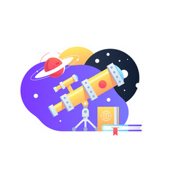 Bright yellow telescope vector
