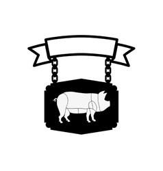Butchery shop symbol vector image