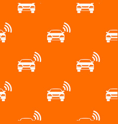Car with wifi sign pattern seamless vector