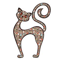 Cartoon amusing cat from mosaic vector