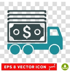 Cash Lorry Icon vector image
