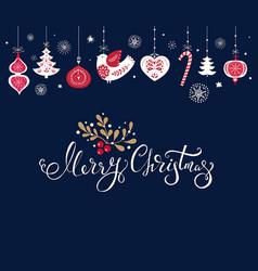 christmas with traditional christmas vector image