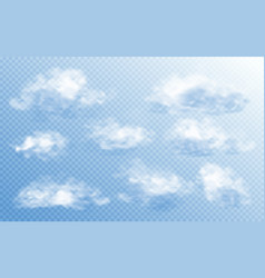 cloud in realistic style on transparent background vector image