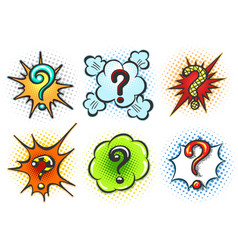 comic question marks vector image