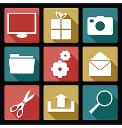 Computer flat icons 2 vector image