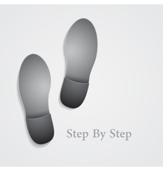 Conceptual step by step footprint vector