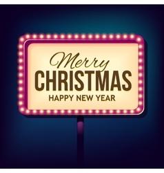 Congratulation to christmas with night retro vector