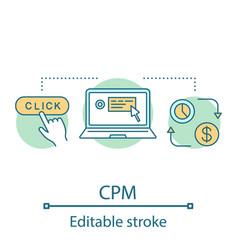 cpm concept icon vector image