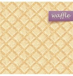 Crisp waffles pattern vector
