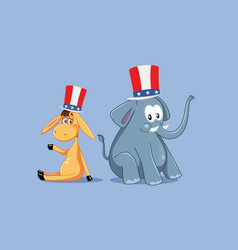 democratic and republican mascots for american vector image