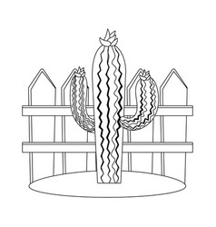 desert cactus cartoon vector image
