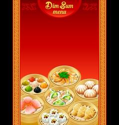 Dim sum menu vector
