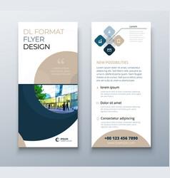 dl flyer design coral business template for dl vector image
