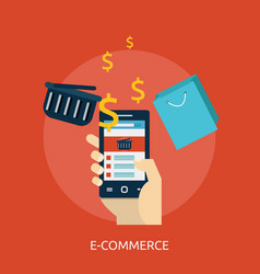e-commerce conceptual design vector image