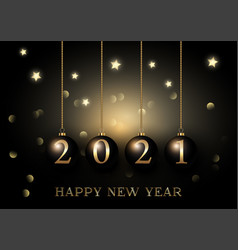 elegant gold and black happy new year background vector image