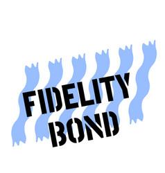 Fidelity bond stamp on white vector