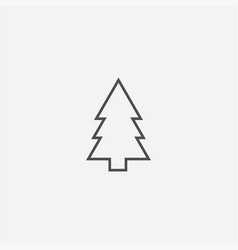 Fir-tree outline icon vector