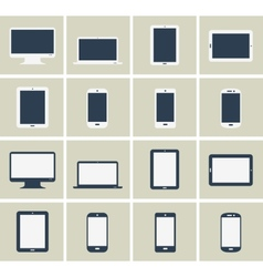 Flat gadgets collection vector