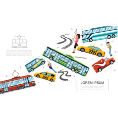 flat public city transport concept vector image